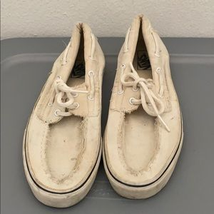Vans beige casual sneakers with laces size 11.5